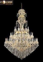 Luxury Classic Maria Theresa Crystal Chandelier Large Big Hotel Lobby Chandeliers Cristal Lighting Pendant Lights CZ6056/72G