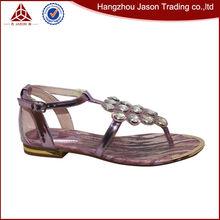 Especial venda quente roxo sandálias de verão