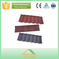 Building construction material colorful stone chip coated steel roof tile