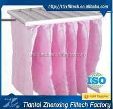 Glass fiber G4 filter synthetic fiber 6 bag pocket filter