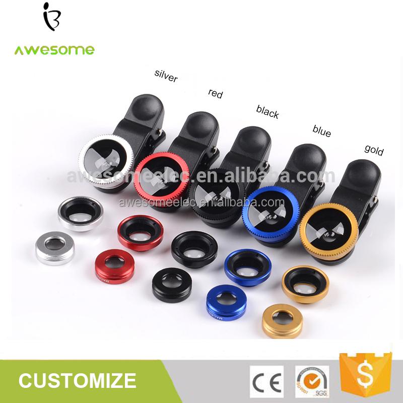 (Único) conveniente nuevo teléfono móvil clip lente ojo de pez lente de la cámara lente gran angular