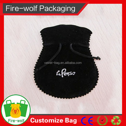 Reusable High Quality Luxurious Silver Printing Velvet Pouch