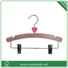 moon shaped wooden baby clothes hanger with clip