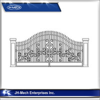 Customized easily assembled waterproof luxury outdoor modern iron gate