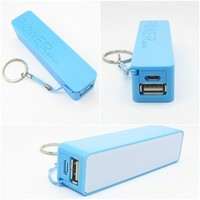 Promotional Gift Dual Color Pocket Size Perfume Power Bank With Keychain