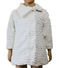 2015 raised grain white PV Plush coat, plush winter coat, long winter white coat