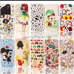 cartoon Detachable wallet cross leather cover Case for samsung galaxy S5 sv i9600 i9500x g900