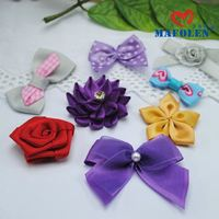Colorful organza ribbon make twisted hair bow decorations for hair