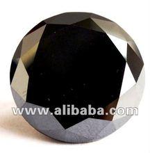 Real Loose Black Diamond Round Brilliant Cut