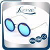 Multicoated round vogue women's sunglasses