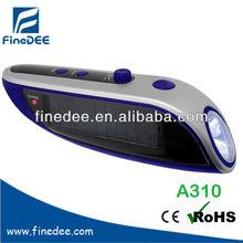 A310 Lithium Battery Solar Radio Hand radio flash light