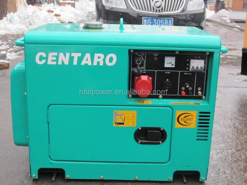 uso doméstico ce certificação 5kw portable silent gerador elétrico