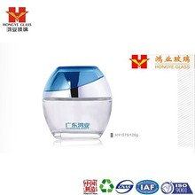 Luxury Packaging white color empty cosmetic sets facial mask big glass jar HY1575,120g
