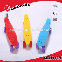 "22""*6"" High Quality Original Penny Board Skateboards, plastic sliding board with PU wheel"