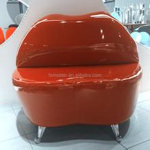 modern designer grace pu lip kiss chair sofa