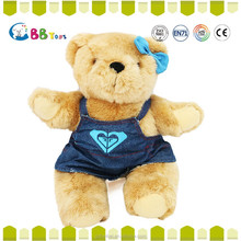 Interesting high quality plush toys. Red, green, Red bowknot is pure brown teddy bear