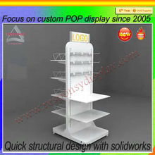supermarket detachable two sides display rack with wheels