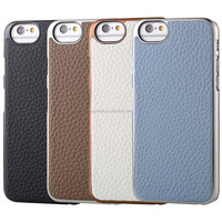Hottest mobile phone litchee pattern cover for iphone 6 genuine leather case with high quality and competitive price