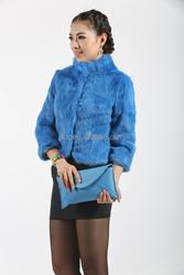 Vintage Design 2015 Rabbit Fur Short Overcoat Could Dye Different Colors Shipping Fast