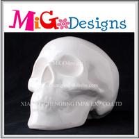 Festival Decor Gift Wholesale Ceramic Christmas Decoration Christmas Skull