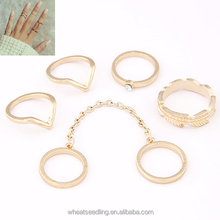 Wholesale Fashion Metal gold midi Knuckle Ring Sets
