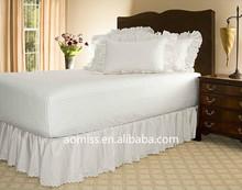 Elegant hotel home white bed ruffle dust ruffle ruffled bed skirt