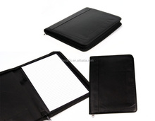 Zipper pu notebook organizer for promotion