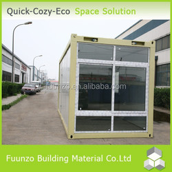 Plastic Timber Decorated New Style Container Glass Wall Cabin