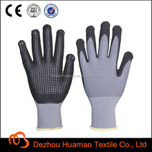 CE available 15G Nylon liner Anti slip nitrile gloves safety equipment