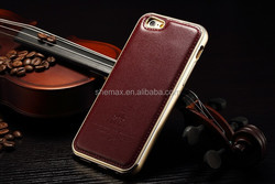 Hot-selling Genuine leather back cover case for iPhone 6/iphone 6 plus