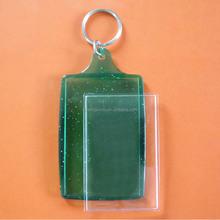 big blank photo frame key chain