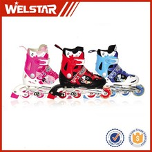 Manufacture Speed Shoes with Carton Pattern Popular Outdoor Game Roller Skates for Kids
