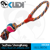 2015 outdoor cotton rope pet dog toy with tennis ball for Shengkang supplier SKGLW076