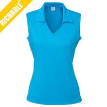 High quality women's sleeveless polo shirt 2012