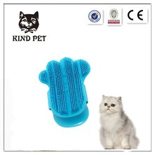 Soft cat and dog rubber tipped shower brush