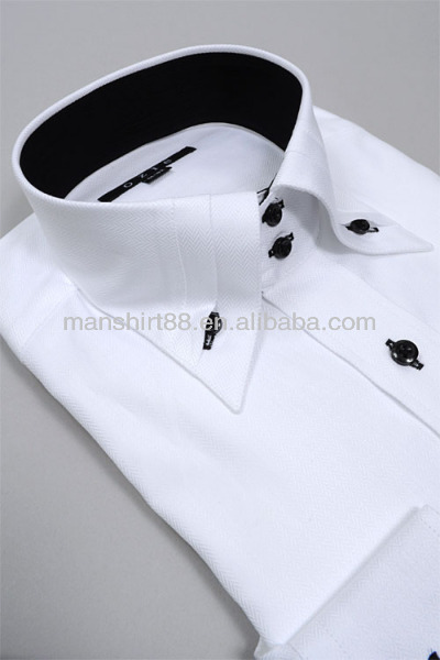 2015 men 39 s button up collar wrinkle free 100 cotton high for High end men s dress shirts