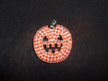 "Custom name pin new fashion rhinestone brooch unique gift ""Pumpkin"" pin for Halloween"