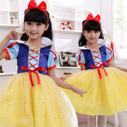 new design soft fairy tale girls party dress Snow White cute beautiful fashion wedding dress