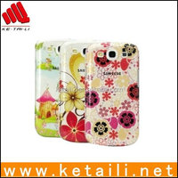 plastic hard clear printed phone case for Samsung