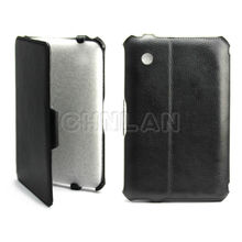 Newest hot pressing stand leather case for ipad mini