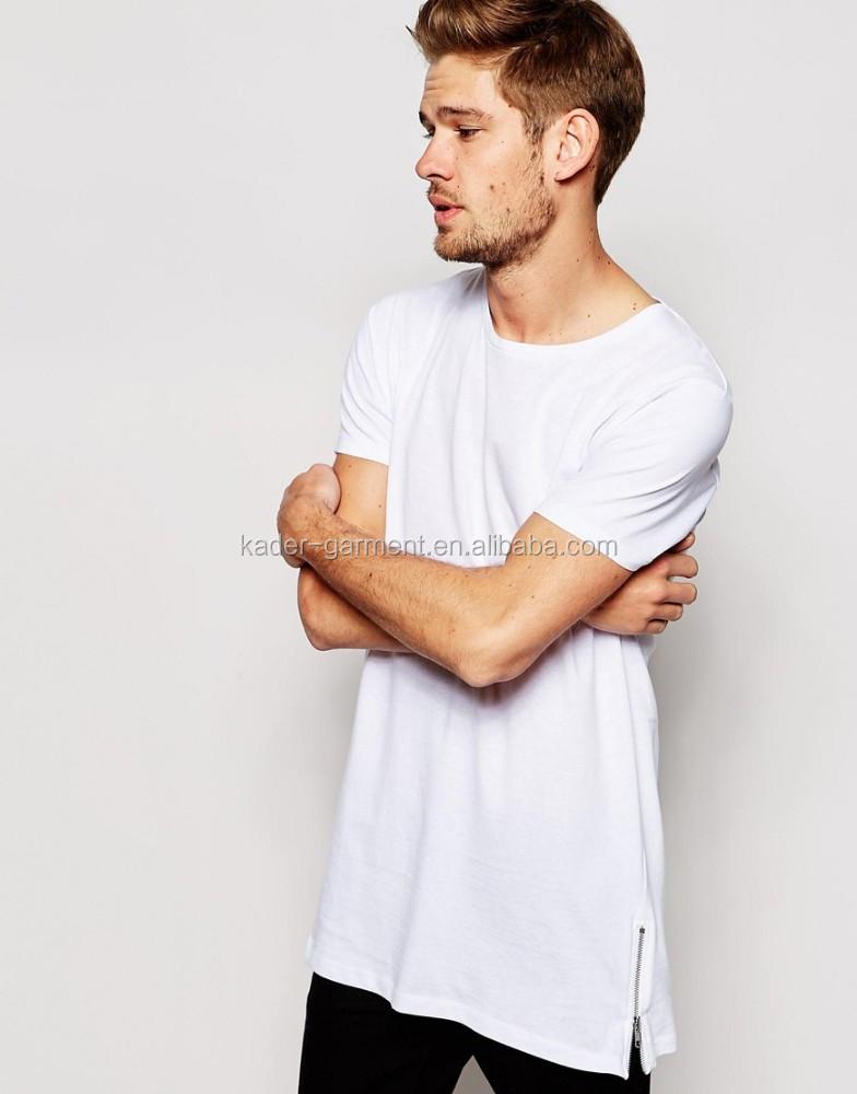 92 polyester 8 spandex mens t shirt men long line t for Polyester t shirts for men