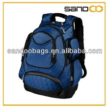 Strong blue polyester and nylon backpack with Laptop Pocket