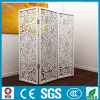 modern and elegant folded laser cut wrought iron room partition design