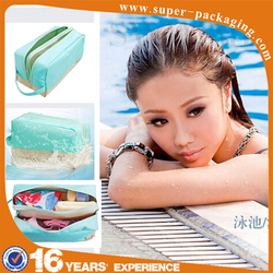 New product type waterproof hanging cosmetic packaging bag for swimming fitness