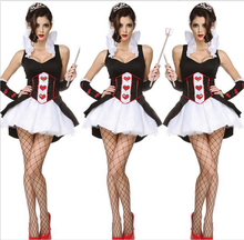 Adults Caton Halloween Party Costumes Women Queen Sexy Uniform Lady Shoe Adult Halloween Dress