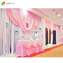 IDA backdrop pipe and drape for wedding, pink sheer fabric draping,ice silk sheer fabric draping (IDAB1710)