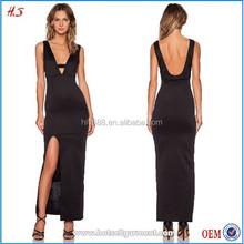 Elegant bar detai design simple style evening dress 2015 gown dress