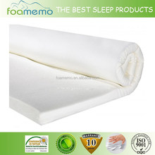 Soft Removable Bamboo Cover with Non-Slip Bottom foam mattress topper