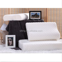 Bubble short plush fabric cover material high density ventilated urethane memory foam filling pillow