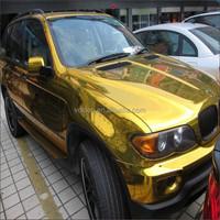 good quality Chrome Mirror Gold Car Wrapping 3D Stickers Chrome Car